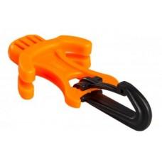 Держатель октопуса с карабином через загубник SAEKODIVE AM05, оранжевый