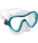 Маска Cressi SKY детская, прозрачный силикон, голубая рамка