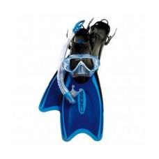 Набор маска ONDA + трубка GAMMA + ласты PALAU , цвет синий