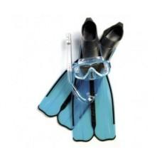 Набор маска ONDA + трубка GRINGO + ласты RONDINELLA , цвет азур