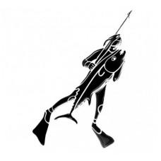 Наклейка Подводный охотник тип 10