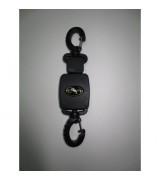 Ретрактор маленький с двумя карабинами, черный