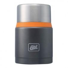 Термос для еды Esbit FJSP,  c ложкой, темно-серый (оранжевый), 0.75 л